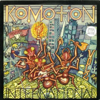 Album cover: Komotion International, Volume 2, cover art by Sal Garcia